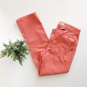 Anthropologie Pilcro Coral Straight Chino Pant